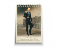 Блокнот стандарт, 105 х 150 мм Дж.Доу Портрет Великого князя Николая Павловича в мундире Лейб-гвардии Измайловского полка. 1820-е годы