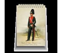 """Блокнот стандарт, 105 х 150 мм """"Рядовой лейб-гвардии Драгунского полка в парадной форме.1855 год"""""""