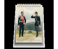 """Блокнот стандарт, 105 х 150 мм """"Лейб-гвардии Драгунский полк. Генерал в парадной форме и обер-офицер в обыкновенной форме. 1872-1873 годы"""""""
