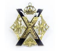 Копия знака Лейб-гвардии Преображенского полка, латунь, эмаль, 45х45 мм