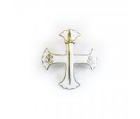 Миникопия знака Лейб-гвардии Семеновского полка , латунь, эмаль, 20х20 мм