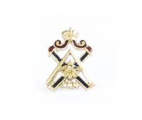 Миникопия знака Измайловского, латунь, эмаль, 15х15 мм
