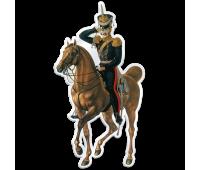 Магнит виниловый фигурный Штаб-офицер Лейб-гвардии Конно-Гренадерского полка