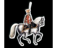 Магнит виниловый фигурный Офицер Лейб-гвардии Гродненского гусарского полка