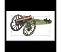 Магнит виниловый прямоугольный 1/2-пудовый полевой единорог обр.1805 г.