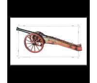Магнит виниловый прямоугольный 3/4-фунтовая нарезная пушка