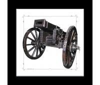 Магнит виниловый прямоугольный 3-фунтовая опытная пушка