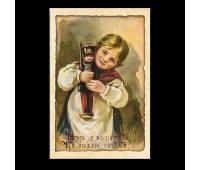 Открытка премиум, 100х150 мм. Чем я виновата, что люблю солдата?! Елизавета Меркурьевна Бём(1843-1914)