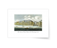 Постер-гравюра А4, стандарт - Постер-гравюра Вид на Зимний Дворец