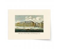 Постер-гравюра А4, премиум - Постер-гравюра Вид на Зимний Дворец