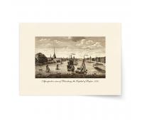 Постер-гравюра А4, премиум - Постер-гравюра Перспектива Санкт-Петербурга. 1770