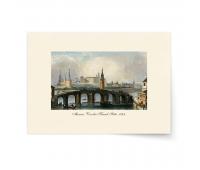 Постер-гравюра А4, премиум - Постер-гравюра Москва. Кремль. 1845