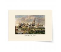 Постер-гравюра А4, премиум - Постер-гравюра Кремль.1820