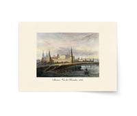 Постер-гравюра А4, премиум - Постер-гравюра Москва. Вид на Кремль.1850