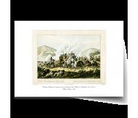 """Постер-гравюра А3, стандарт : """"Генерал Вандам попадает в плен в сражении при Кульме. Австрия. 1800-1900 гг. """" Карл Генрих Раль"""