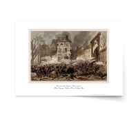 "Постер-гравюра А3, стандарт :  ""Сражение при Кульме. Бой на улицах.""  Жан Адольф Бокуен, Жюль-Декарт Фера."