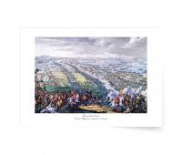 Постер-картина А3 - Постер-картина Полтавская битва. Дени Мартен-младший. 1726 г