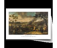 "Постер-картина А3, стандарт. ""Полтавский бой. 1718 г.""  Луи Каравак (приписывается  Жан-Марку Натье)"