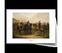 "Постер-картина А3, стандарт. ""Встреча Александра II c Вильгельмом I"".  Пауль Бюрде"