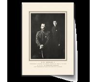 Постер-фотография А4 - Николай II c сыном(S.M. NICOLAS II )