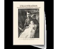 Постер-фотография А4 -  Царь Николай II с царевицем Алексеем (LE  TSAR  ET  LE   TSAREVITCH)