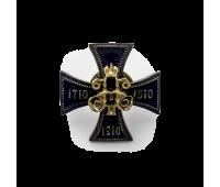 """Копия  полкового знака """"Гвардейский флотский экипаж"""", малая, латунь, эмаль, 15х15 мм"""