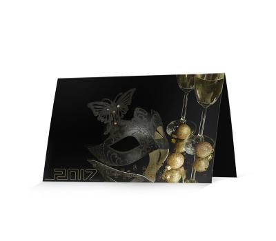 Приглашение/открытка - черный плайк (150x210)